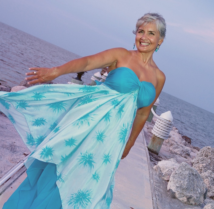 Custom designed silk beach wedding dresses and resort wear for Key west wedding dresses