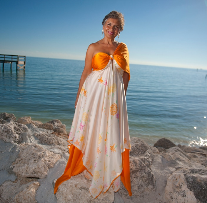 Destination Island Bridal Wedding Dress