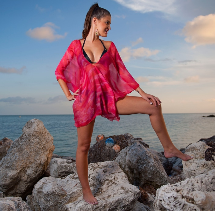 silk beach cover-ups