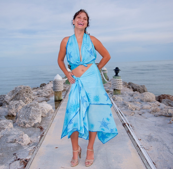 silk sarong island wear