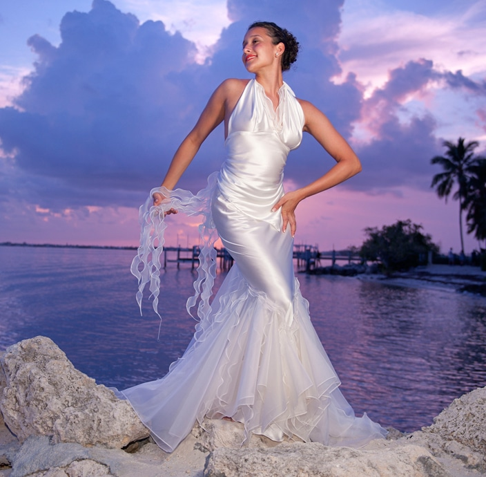 mermaid beach wedding dress - look book for eva