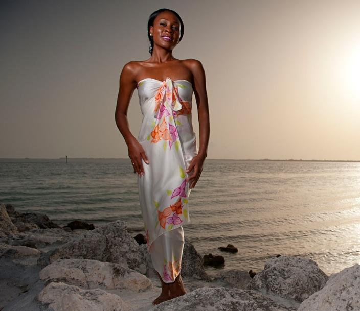 Mermaid style beach sarong