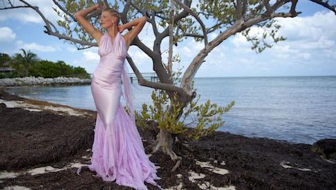 silk beach wedding dress