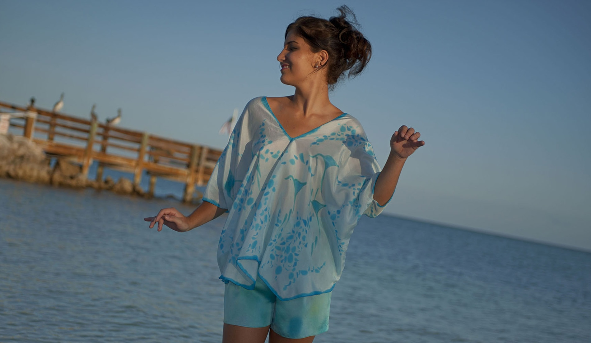 C 001 CAYMAN ISLANDS LOOK 1 FRONT CAFTAN ISLAND TUNIC UPSCALE RESORT WEAR DSC 1675 - beach wedding attire for mother of the bride