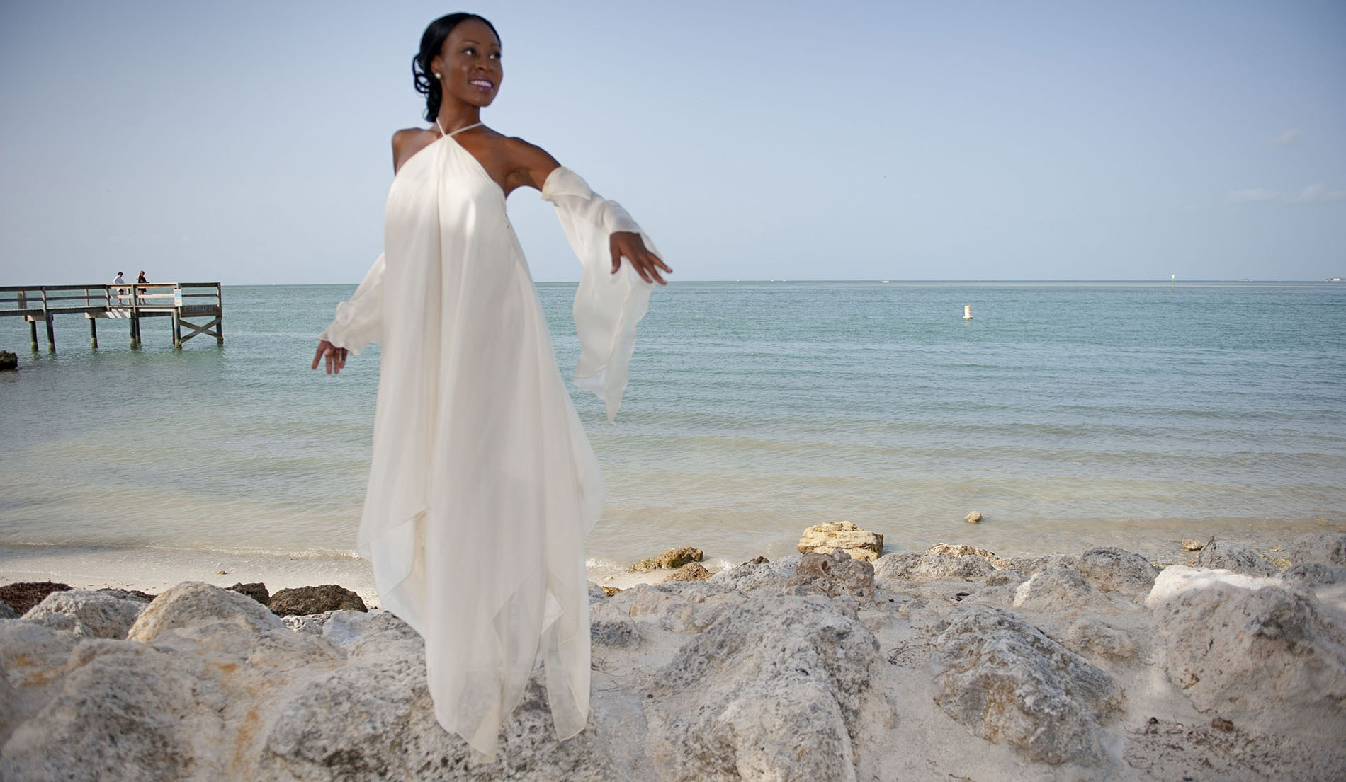 Angelic Second Marriage Wedding Dresses Beach - Look 1 Front