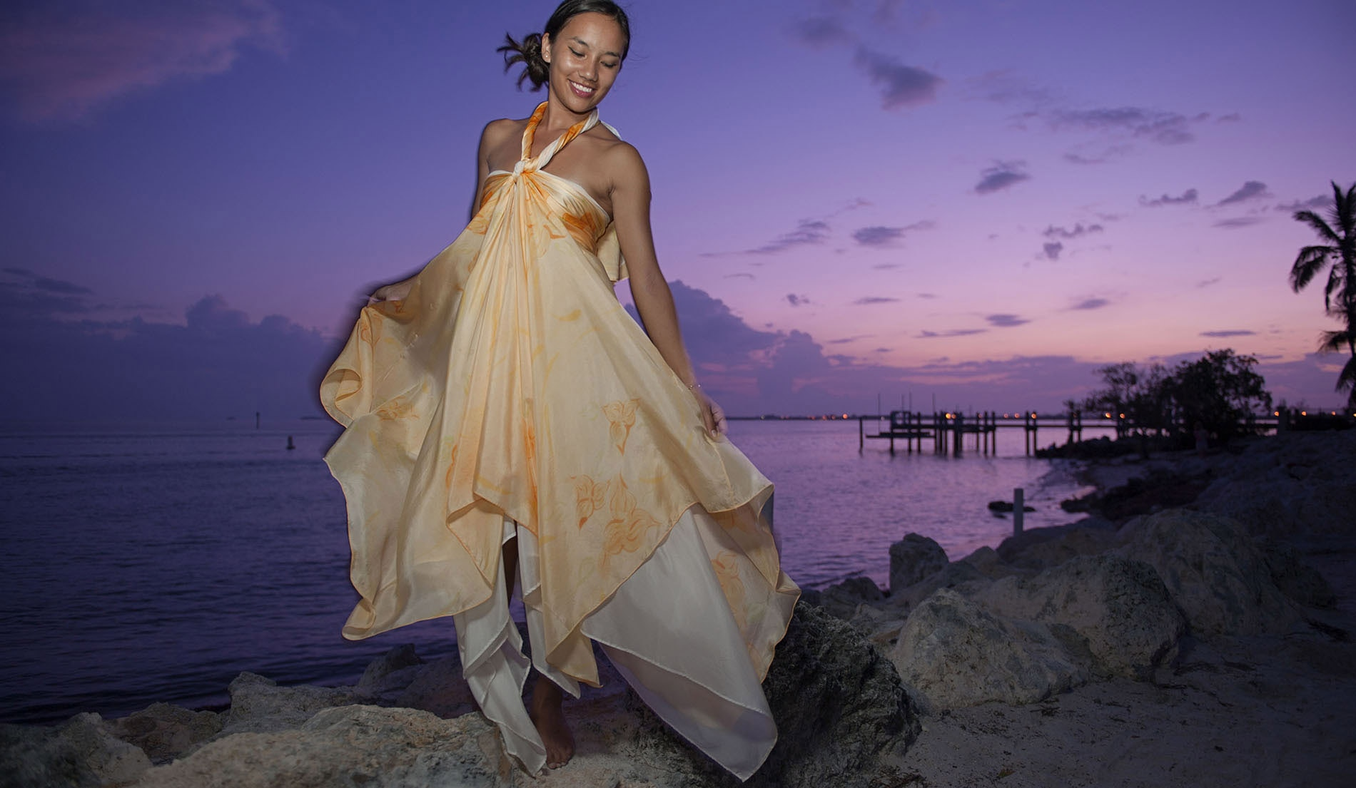 Most Popular Beach Inspired Wedding Dresses - Look 1 Front