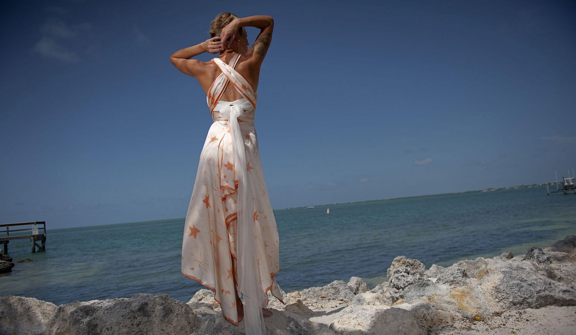 Flowy Beach Wedding Dress - Look Book for Celine