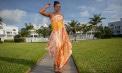 Asymmetric Waist one shoulder beach wedding dress - Look Book for Aruba - Look 2 front