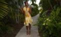 Tropical Handkerchief Hemline Bridesmaid Destination Skirt Ensemble - Puerto Rico - Look 2 front