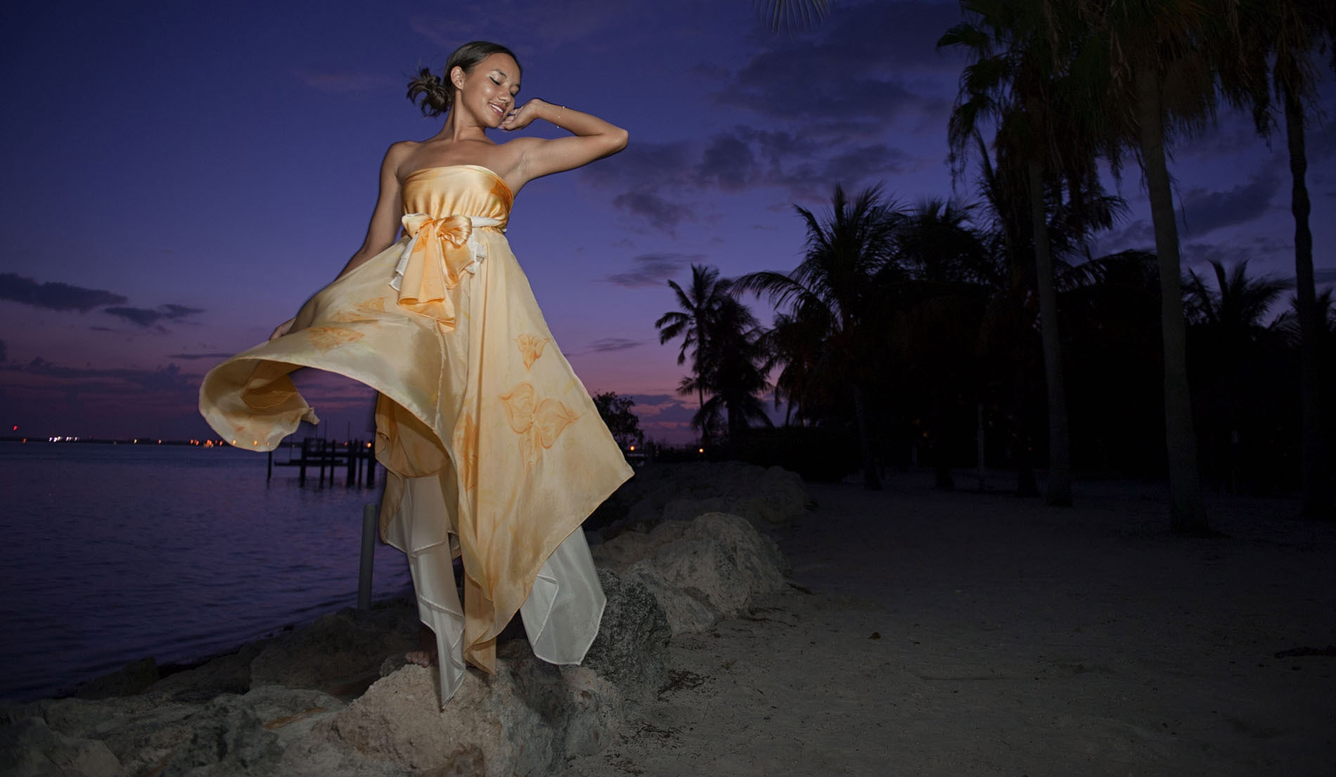 Convertible Beach Inspired Wedding Dresses - Look 2 Front