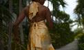 Tropical Handkerchief Hemline Bridesmaid Destination Skirt Ensemble - Puerto Rico - Look 2 back