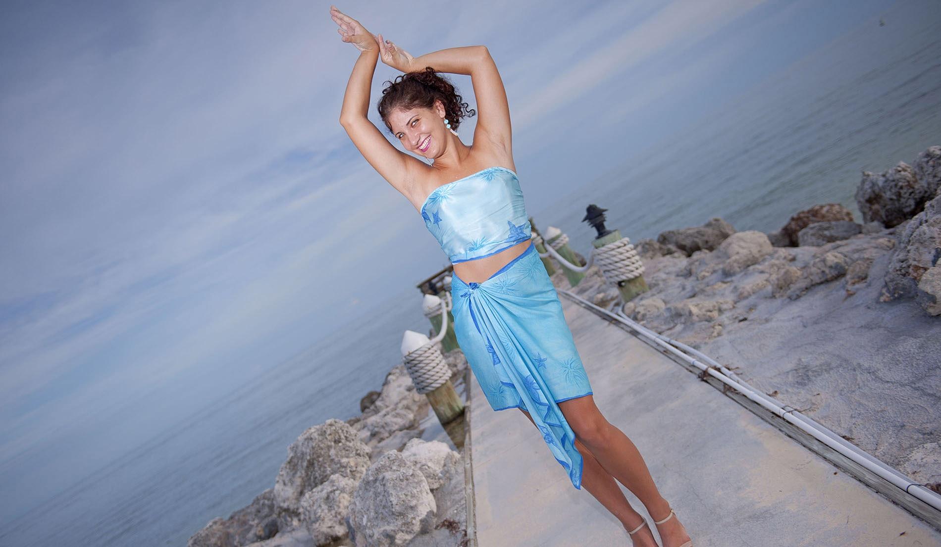 CASUAL MULTI-SARONG LOOKS - Custom Silk Beach Wedding Dresses and ...