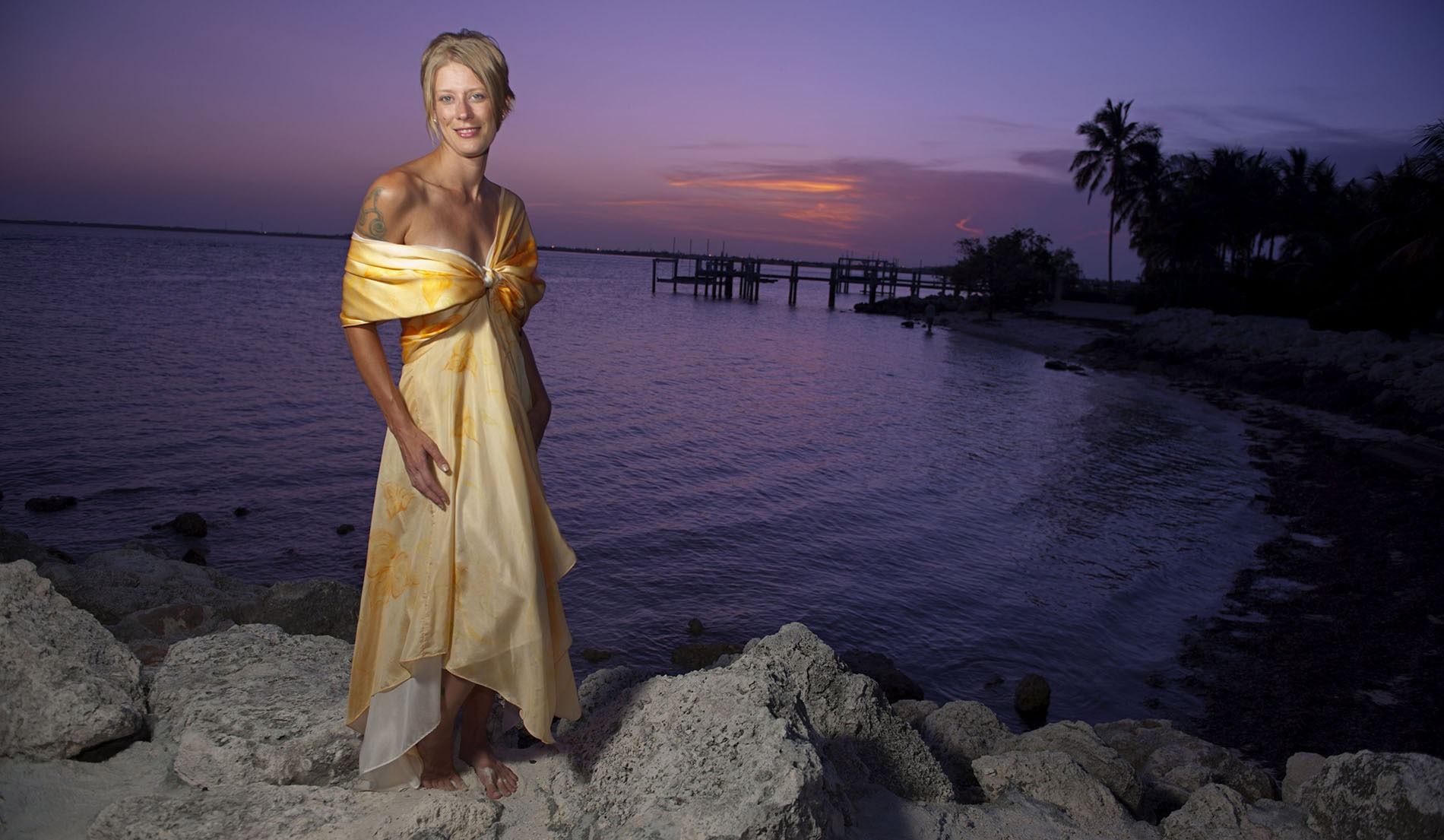 V Neck Beach Inspired Wedding Dresses - Look 3 Front