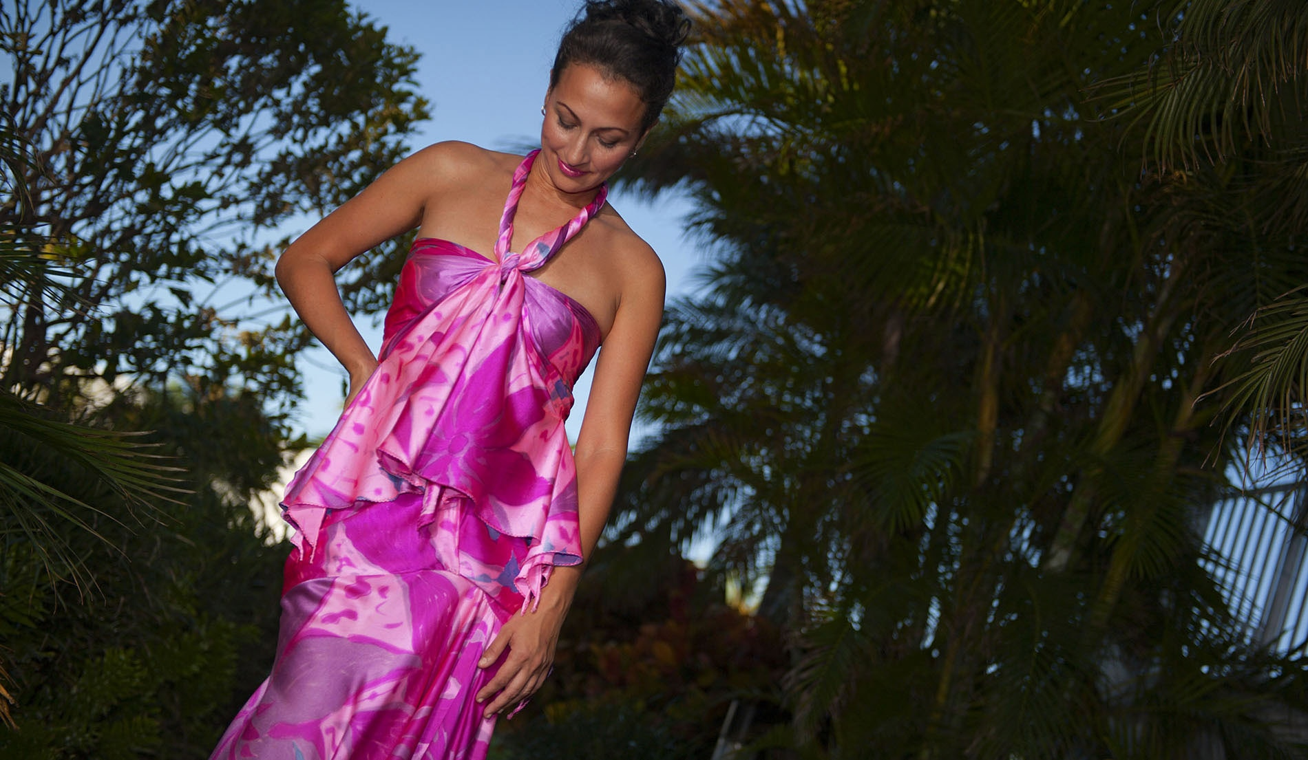 Lift Separate Halter Mermaid Style Beach Wedding Dresses - Martinique - Look 4 front