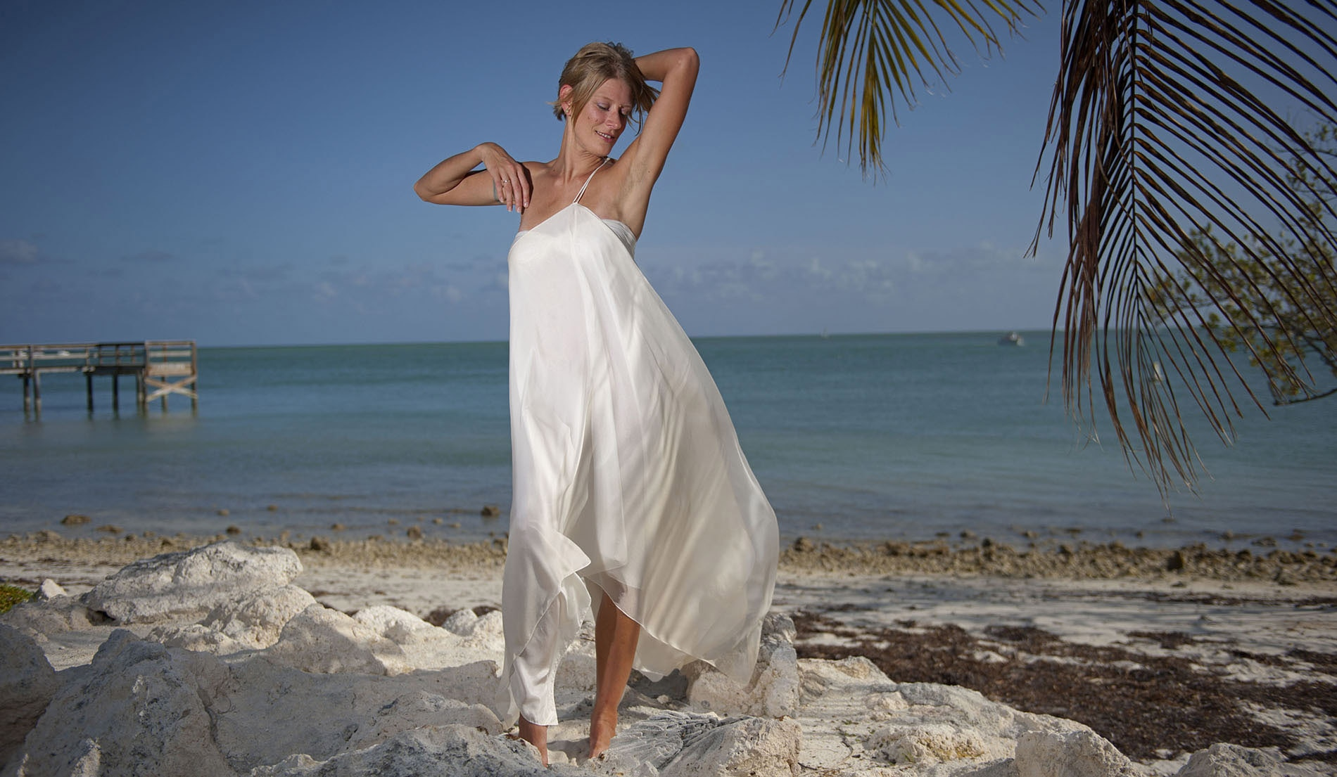 Custom Second Marriage Wedding Dresses Beach - Look 4 front