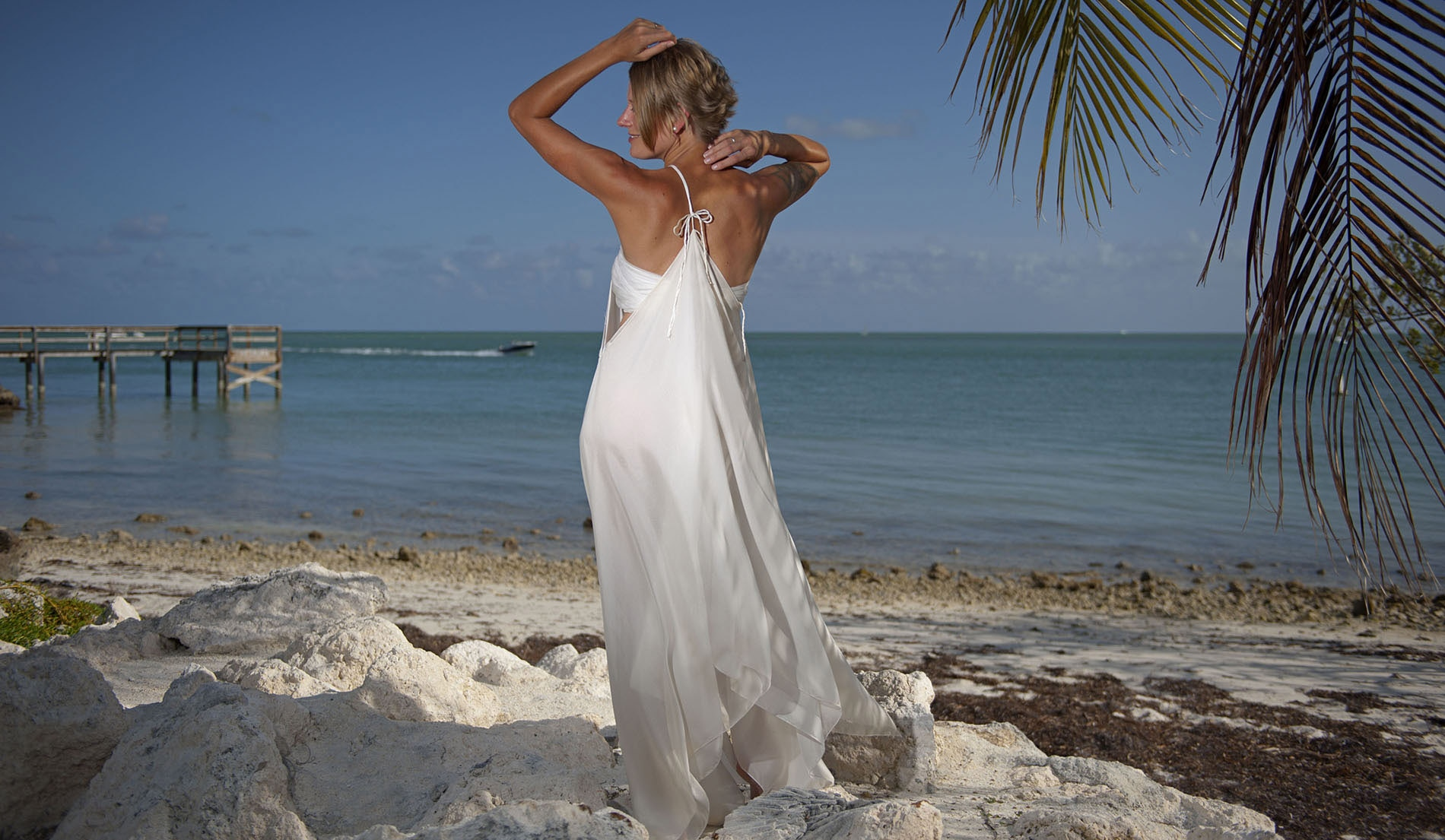 Custom Second Marriage Wedding Dresses Beach - Look 4 back