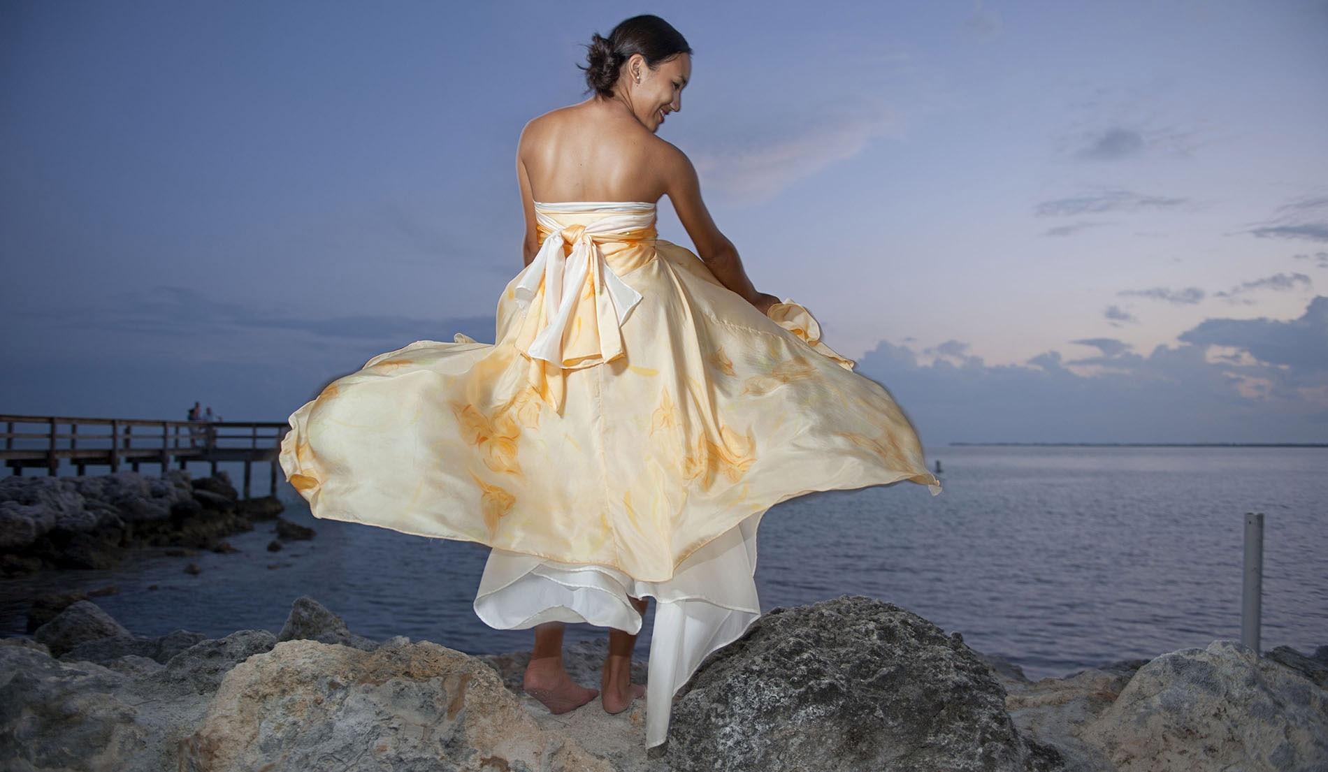 Strapless Bustier Inspired Wedding Dresses - Look 4 back