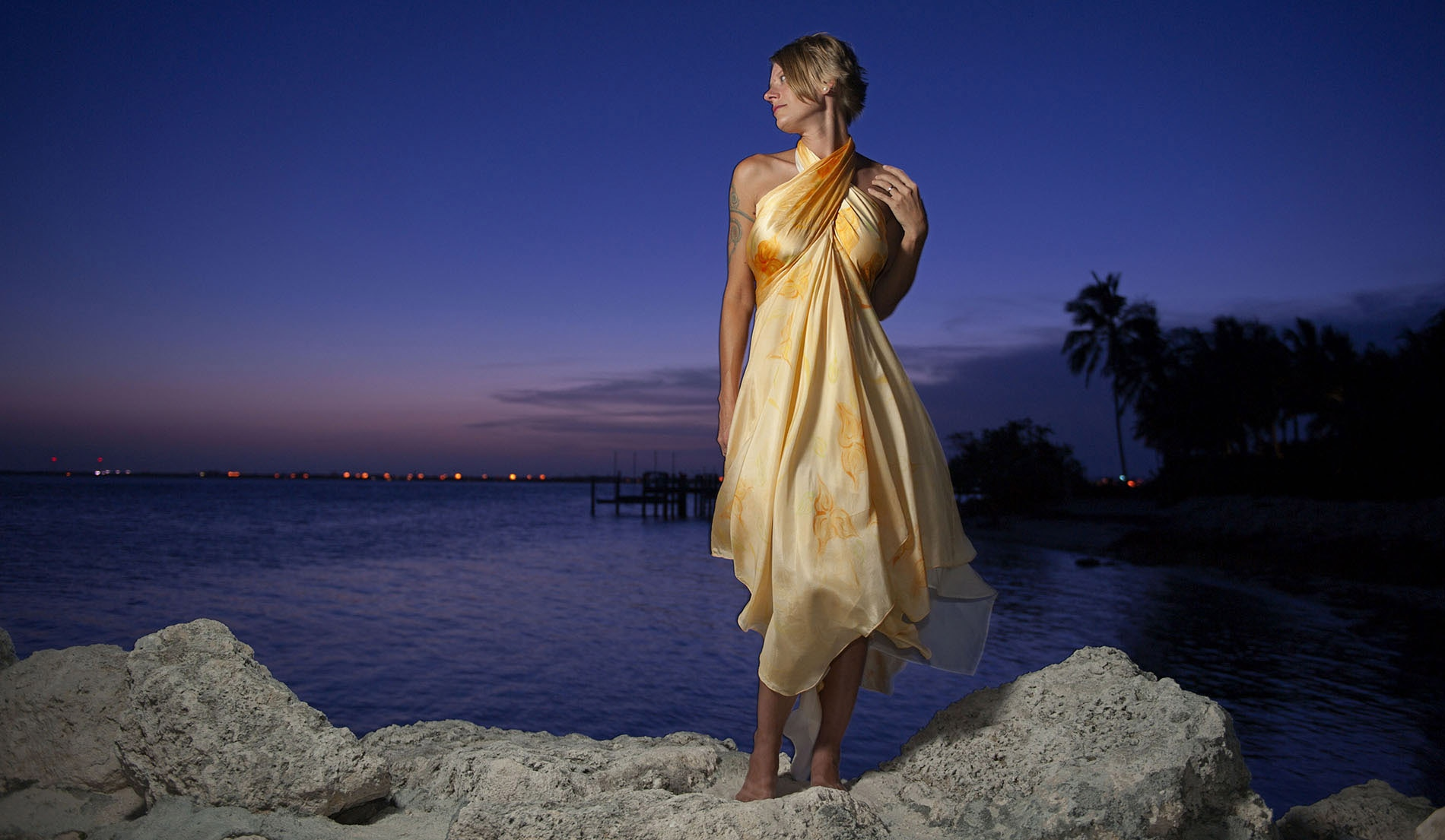 Criss-Cross Halter Beach Inspired Wedding Dresses - look 6 front