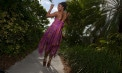 Dropped waist Wedding dresses for beach weddings - Look Book for Dominica - Look 6 back