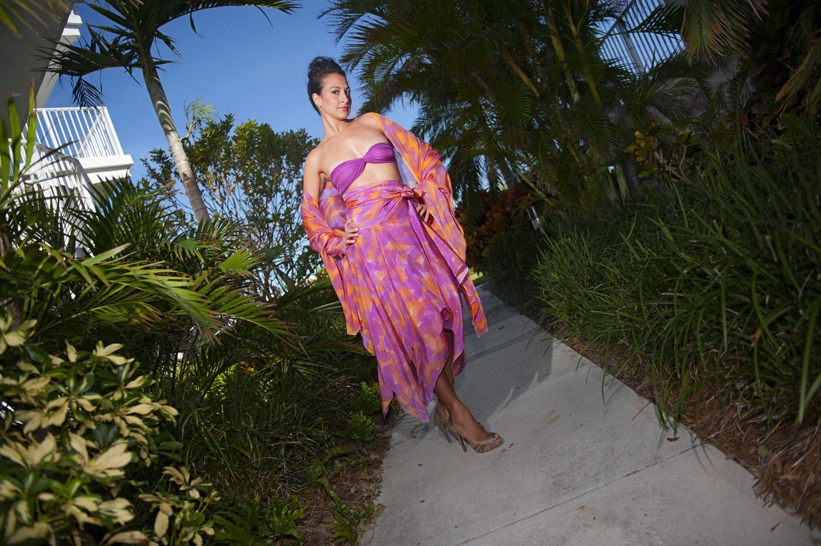 Custom Wedding dresses for beach weddings - Look Book for Dominica - Look 7 front