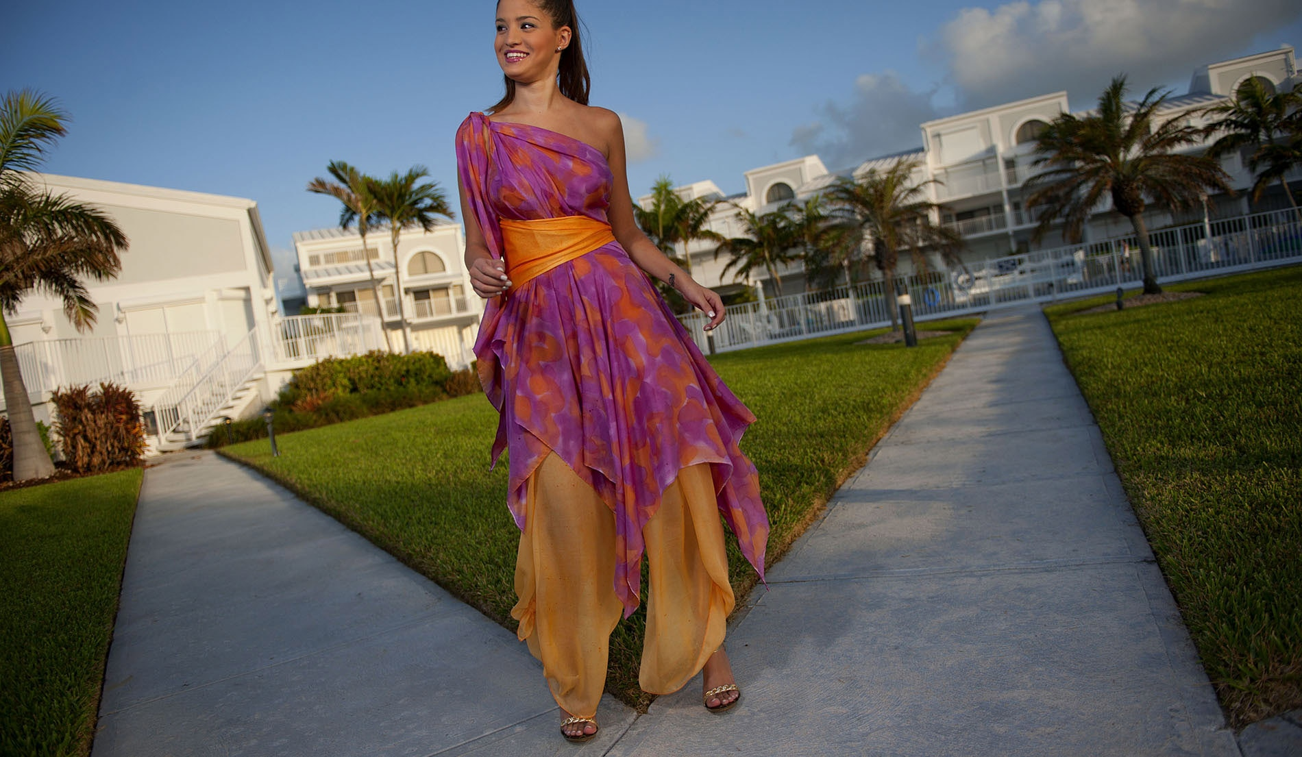 One Shouldered Wedding dresses for beach weddings - Look Book for Dominica - Look 8 front