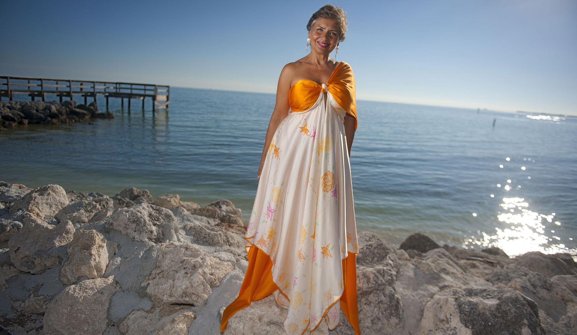 Asymmetric Beach Inspired Weeding Dresses - look 8 front