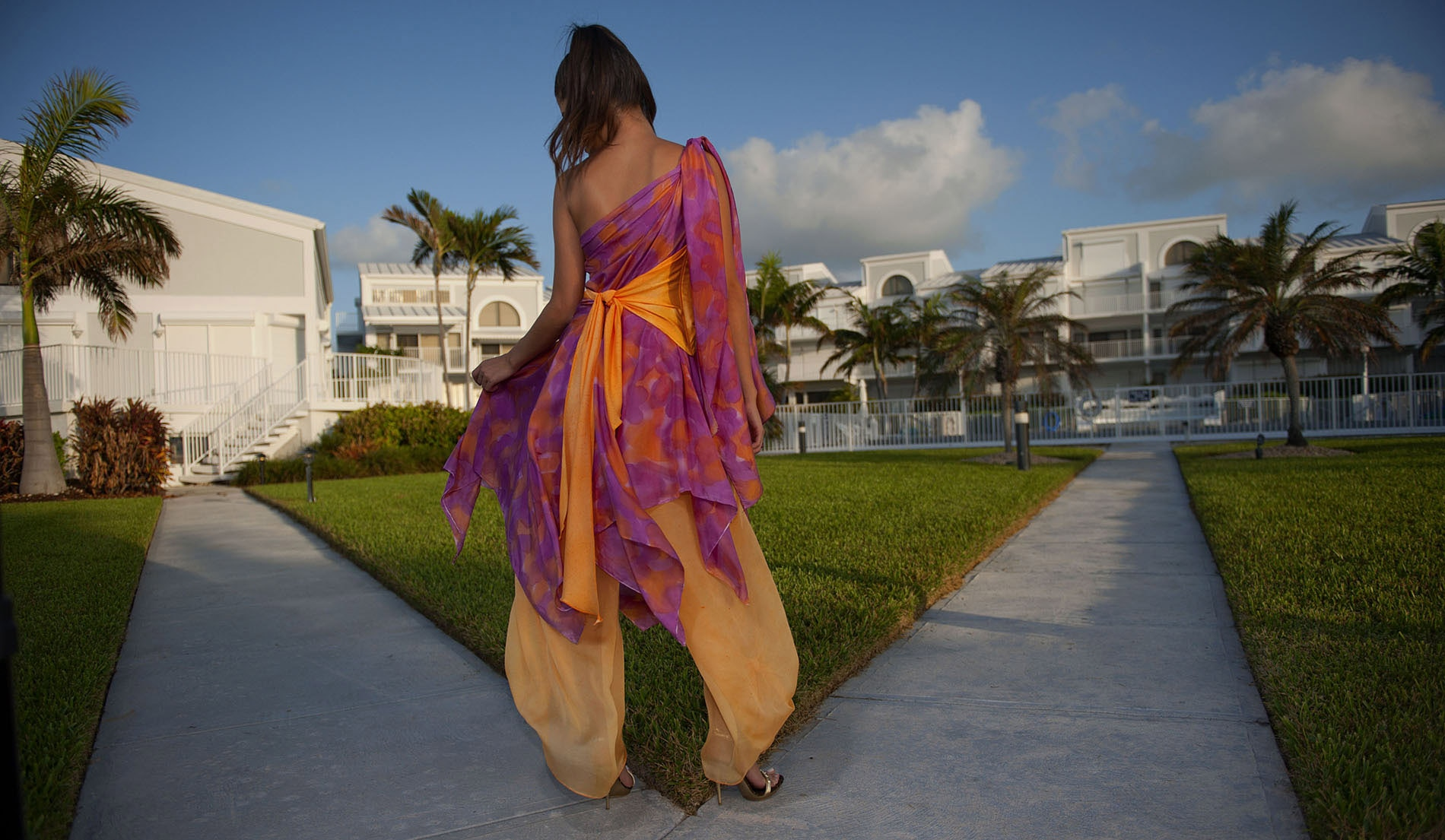 One Shouldered Wedding dresses for beach weddings - Look Book for Dominica - Look 8 back