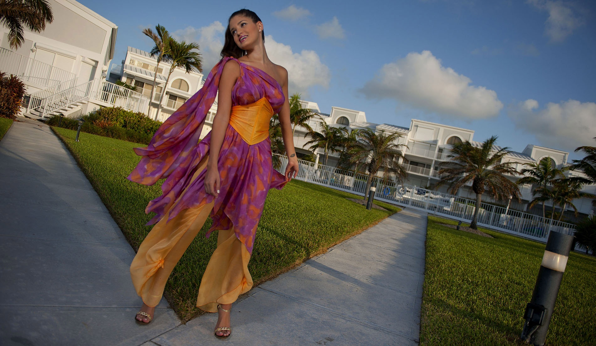 Natural Waist Wedding dresses for beach weddings - Look Book for Dominica - Look 9 front