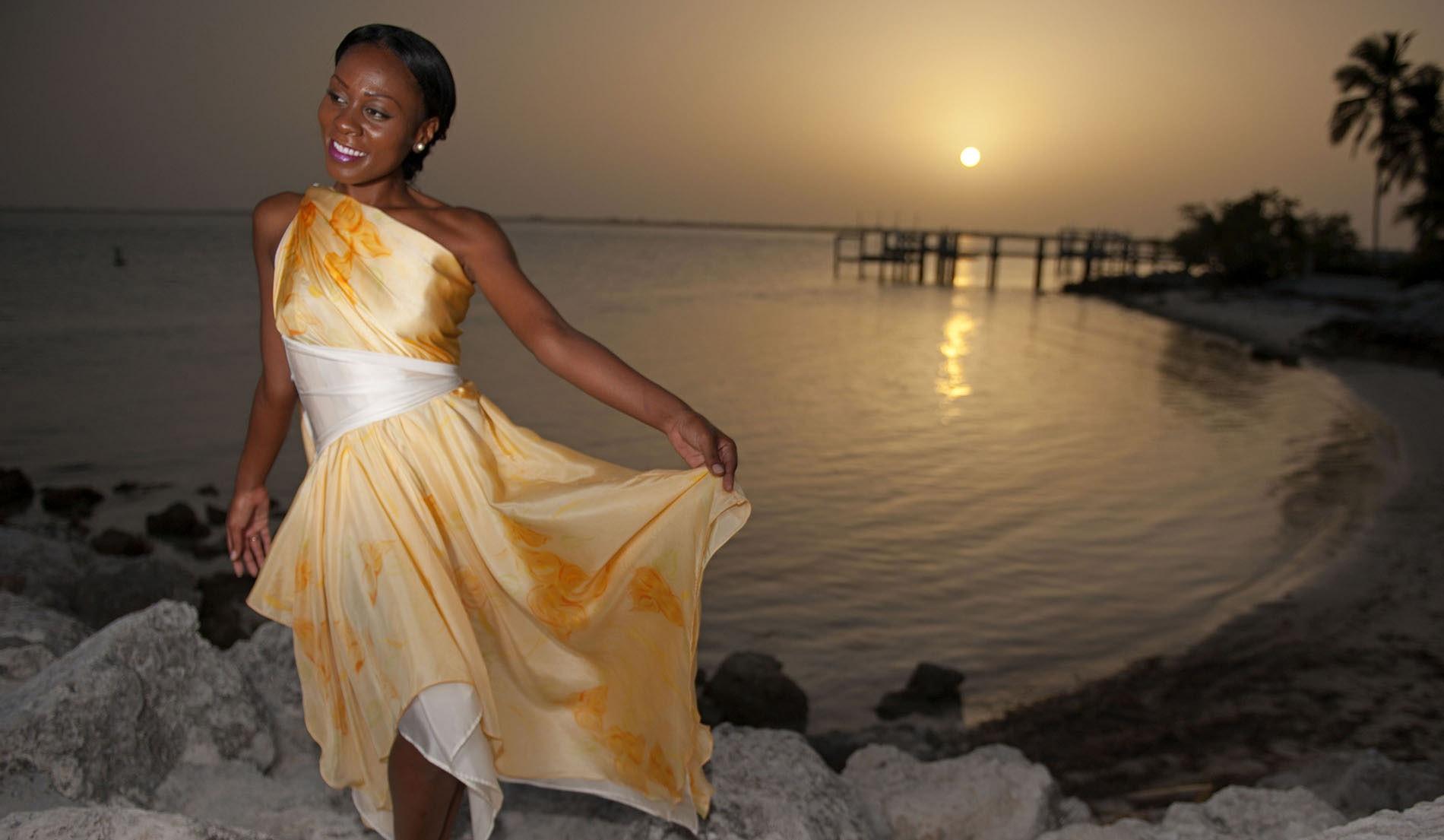 Silk Beach Inspired Weeding Dresses - look 9 front