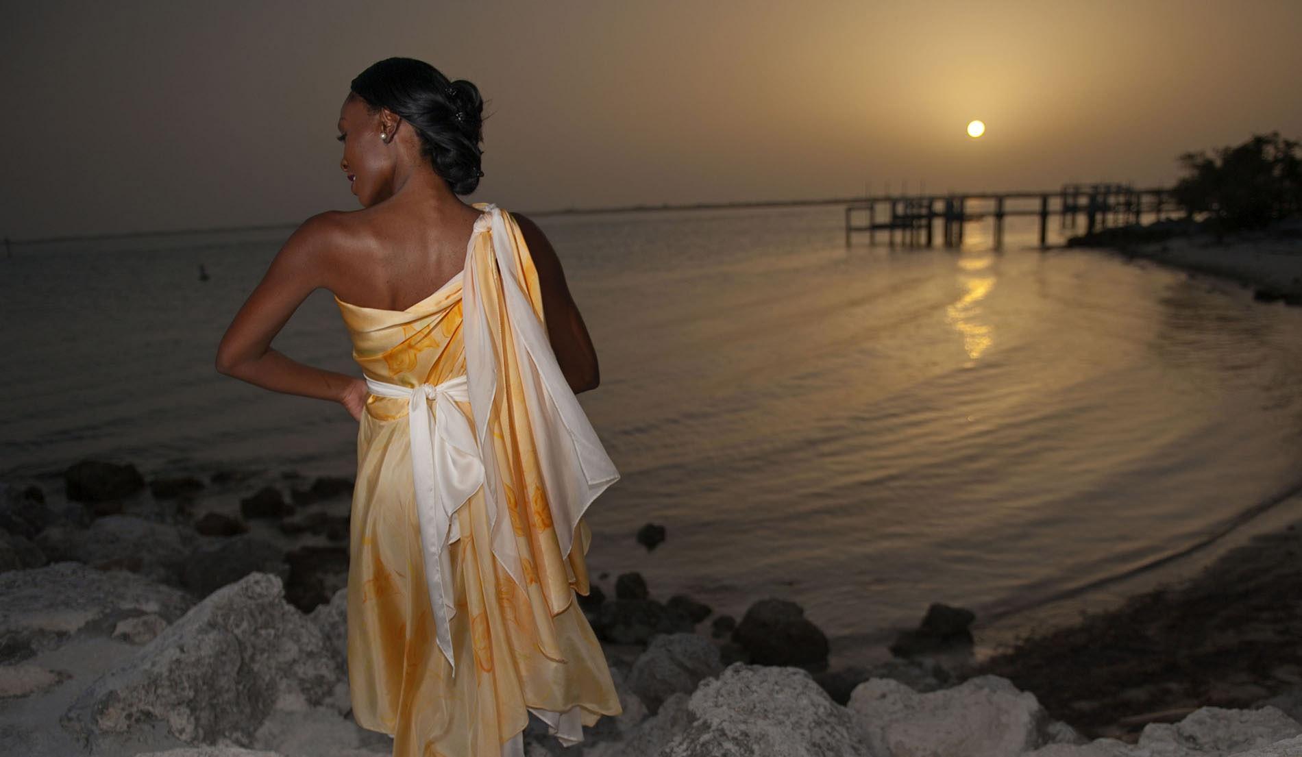 Silk Beach Inspired Weeding Dresses - look 9 back