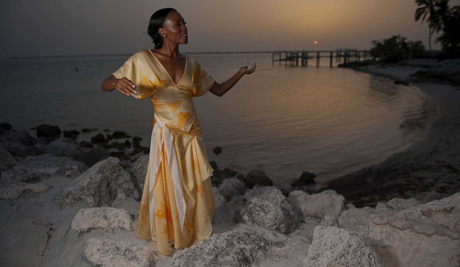 Side-sashed skirt Beach Inspired Wedding Dresses - Look 10 front