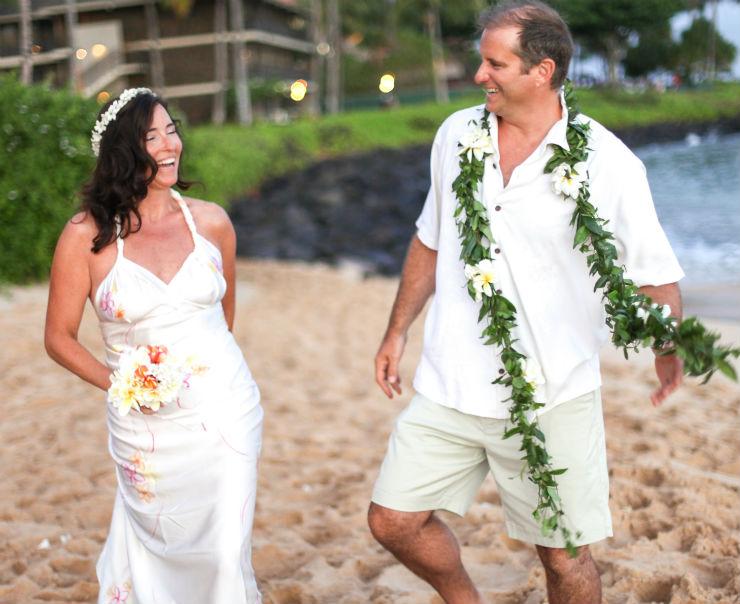 Jill Henderson beach wedding dress