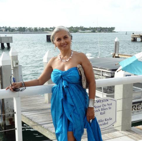 Lorraine Osgood Blue Silk Sarong