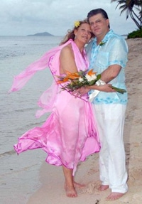 pink silk island wedding dress