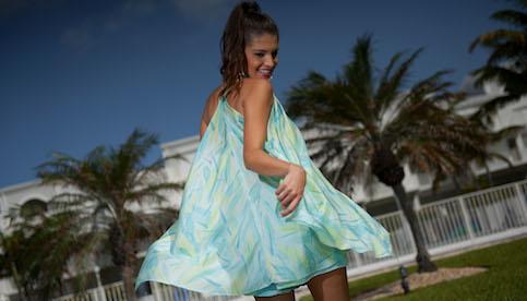 custom silk resort wear