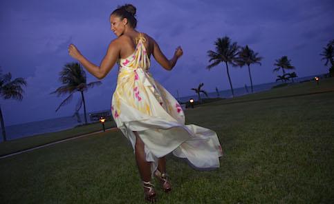 silk bridesmaid dress for a beach wedding