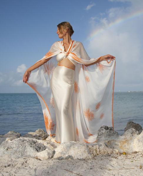 brides island goddess beach wedding dress ideas midriff baring sexy dresses