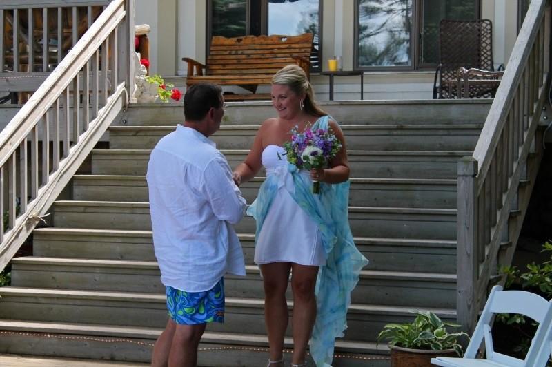 Laura Panganis beach wedding dress