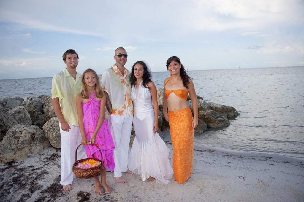 Custom bridal beach wear